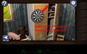 Can You Escape Horror Level1 Dart Board