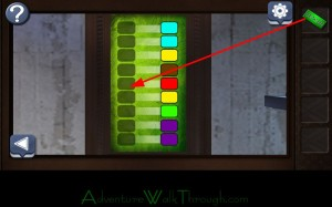 Can You Escape Horror Level4 insert green plate