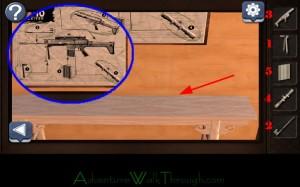 Can You Escape Horror Level7 assemble rifle