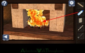 Can You Escape Horror Level7 fireplace