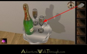 Escape Through History Level15 Champagne Flute