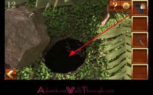 Can You Escape Adventure Level 12 use flashlight
