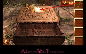 Can You Escape Adventure Level 15 illuminated spot