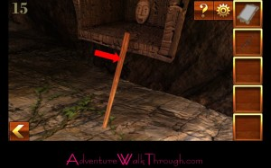 Can You Escape Adventure Level 15 wooden stick