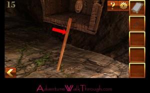 Can You Escape Adventure Level 15 wooden stick
