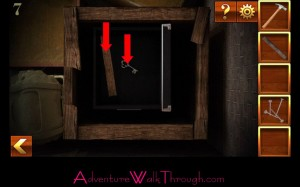 Can You Escape Adventure Level 7 key and board