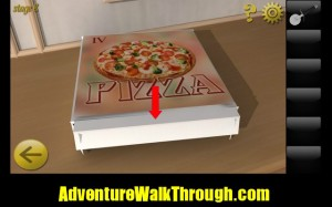 World Escape Level8 pizza box