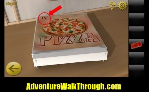 World Escape Level8 pizza box number