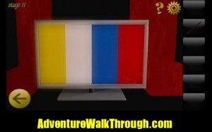 World Escape Level11 color stripes display