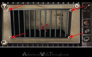Escape the Prison Room Level2 screws