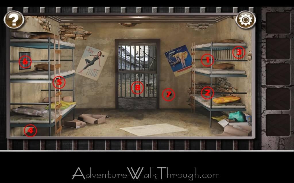 Escape the prison room level 2 for Small room escape 6 walkthrough