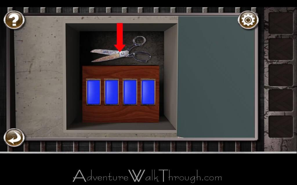how to use scissors in alcatraz escape