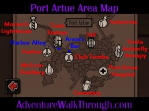 Port Artue Area Map