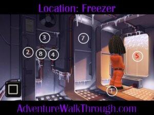 The Journey Down Ch1 Part3 freezer puzzle